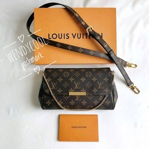 LOUIS VUITTON Monogram Favorite MM Pochette Metis